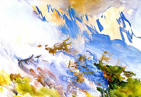 John Singer Sargent-Mountain Fire