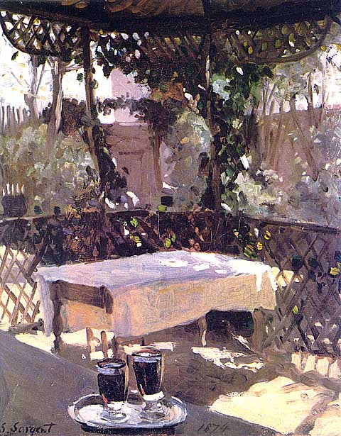John Singer Sargent-Two Wine Glasses