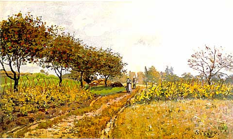 Alfred Sisley- A Country Path