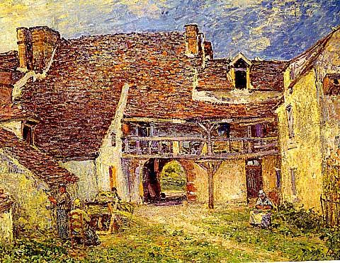Alfred Sisley-Farm Yard At Saint Mammes