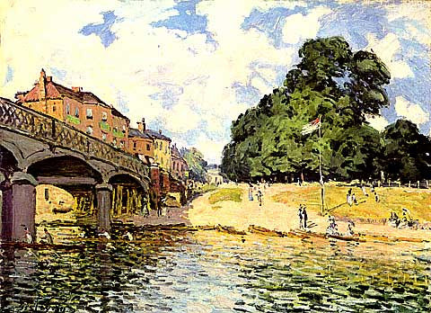 Alfred Sisley-The Bridge At Hampton Court