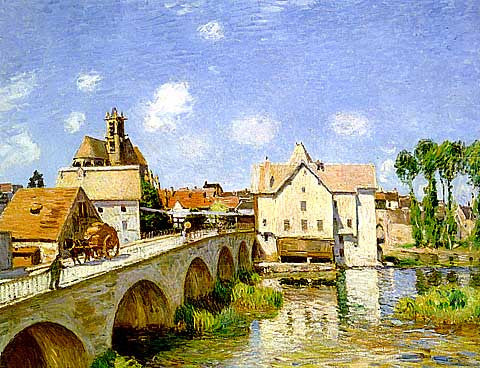 Alfred Sisley-The Bridge At Moret