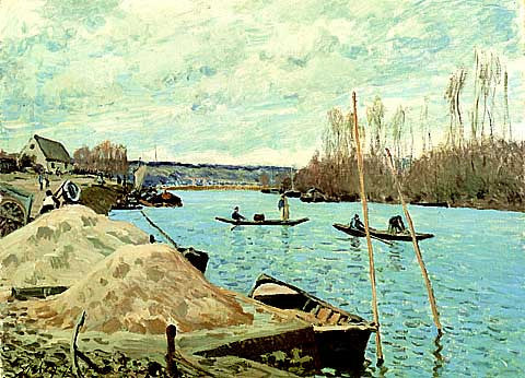 Alfred Sisley-The Seine At Port Marly