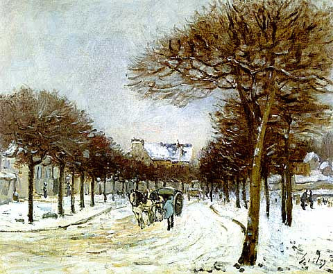 Alfred Sisley-The Road To Saint Germain