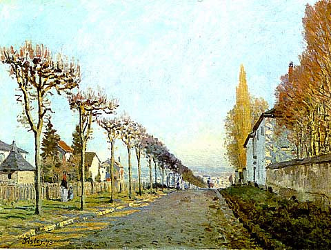 Alfred Sisley-The Machine Road At Louveciennes
