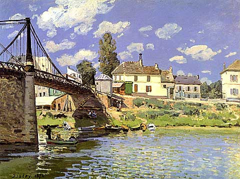 Alfred Sisley-The Bridge At Villeneuve