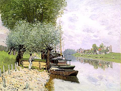 Alfred Sisley-The Seine At Bougival