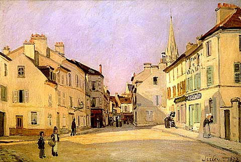 Alfred Sisley-The Square At Argenteuil