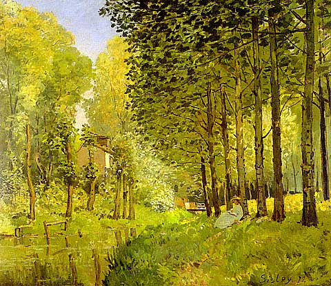 Alfred Sisley-Rest Beside The Stream