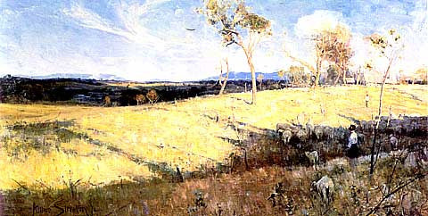 Arthur Streeton-Golden Summer