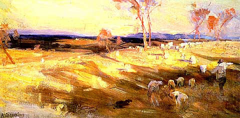 Arthur Streeton-Golden Summer#2