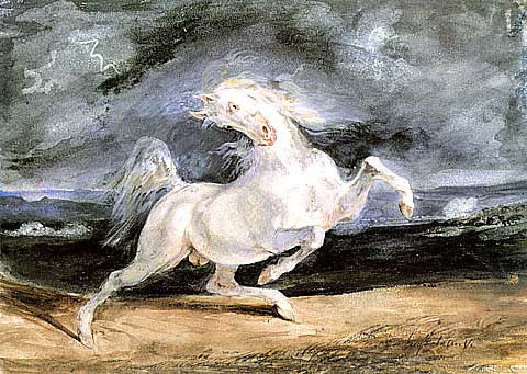 George Stubbs-Horse Frightened