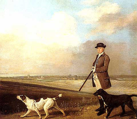George Stubbs-Hunting Scene With Dogs