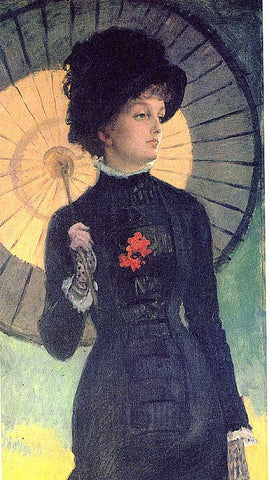 James Tissot-Dame With Umbrella