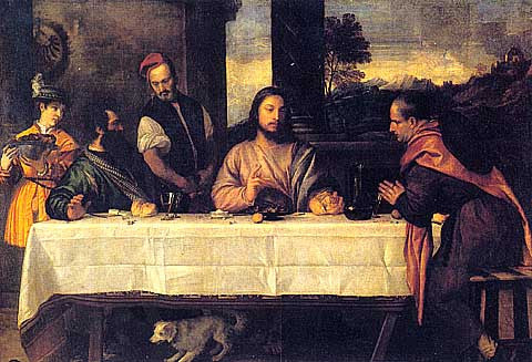 Titian-The Supper At Emmaus