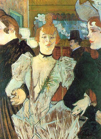 Henri de Toulouse Lautrec-La Goulue Arriving at the Moulin Rouge