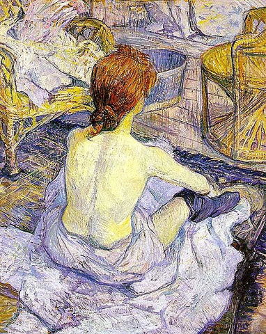 Henri de Toulouse Lautrec-The Toilette
