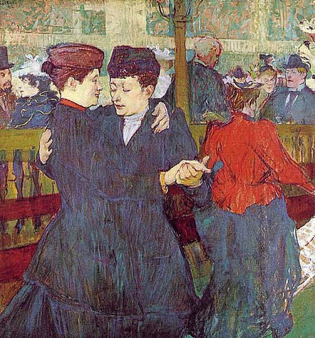 Henri de Toulouse Lautrec-Two Women Waltzing