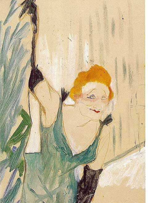 Henri de Toulouse Lautrec-Yvette Guilbert Greeting the Audience