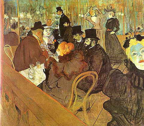 Henri de Toulouse Lautrec-At Moulin Rouge