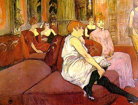 Henri de Toulouse Lautrec-Salon At The Rues Des Moulin