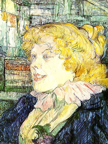 Henri de Toulouse Lautrec-The English Barmaid