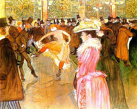 Henri de Toulouse Lautrec-At The Moulin Rouge Saloon
