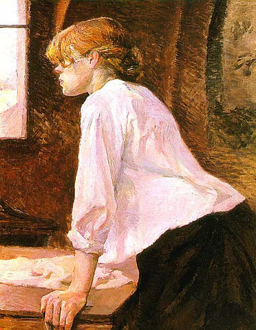 Henri de Toulouse Lautrec-The Laundress