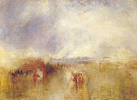 Joseph Mallord William Turner-Procession of Boats with Distant Smoke
