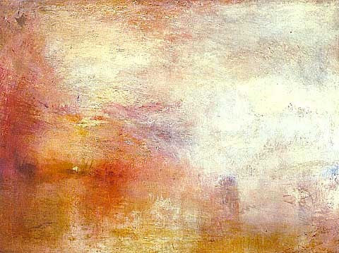 Joseph Mallord William Turner-Sun Setting over a Lake