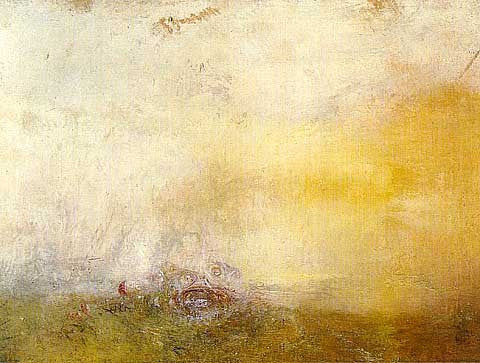 Joseph Mallord William Turner-Sunrise with Sea Monsters