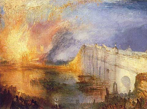 Joseph Mallord William Turner-The Burning of the Houses of Lords