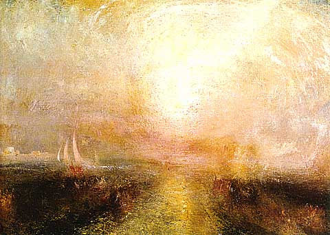 Joseph Mallord William Turner-Yacht Approaching the Coast