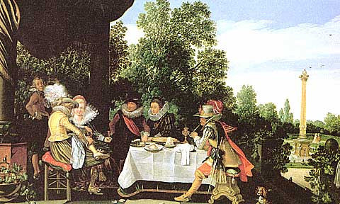 Van De Velde-Party on the Garden