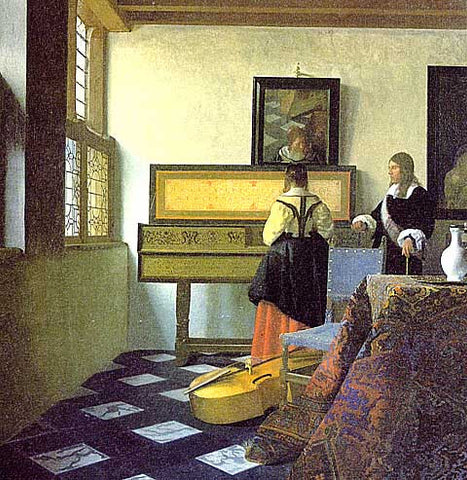 Jan Vermeer-Lady At The Virginals