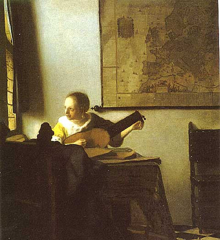 Jan Vermeer-Woman With A Lute
