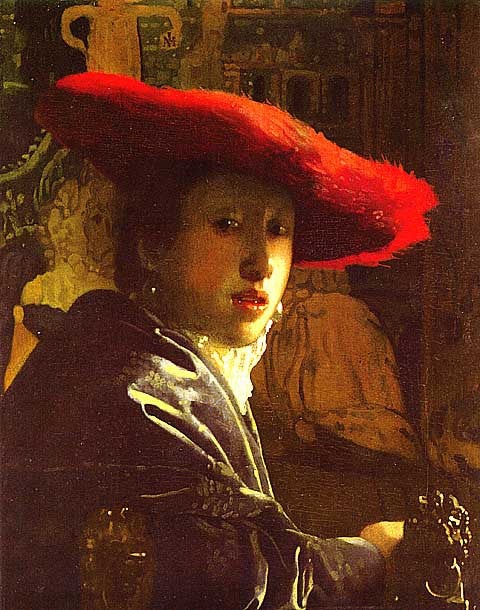 Jan Vermeer-Girl With A Red Hat