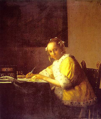 Jan Vermeer-A Lady Writing