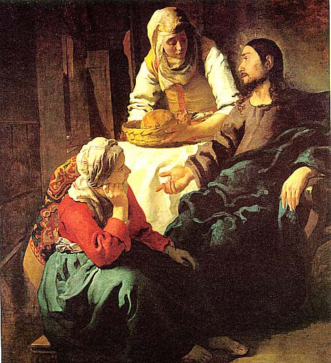 Jan Vermeer-Christ With Mary And Martha