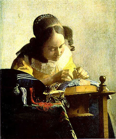 Jan Vermeer-The Lacemaker