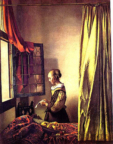 Jan Vermeer-Girl Reading A Letter