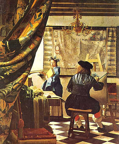 Jan Vermeer-The Painter Studio