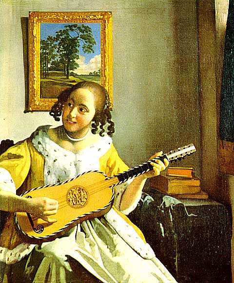 Jan Vermeer- Woman Playing A Guitar