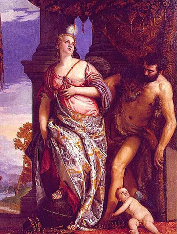 Veronese Paolo-Allegory of Wisdom and Strength