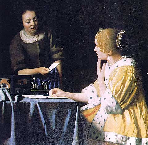 Jan Vermeer-Mistress and Maid
