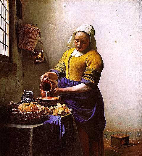 Jan Vermeer-The Milkmaid