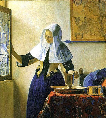 Jan Vermeer-Young Woman with a Water Pitcher