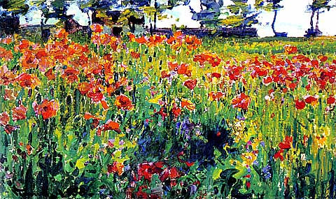 Robert Vonnoh-Poppies In France