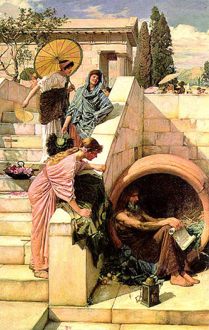 John William Waterhouse-Diogenes