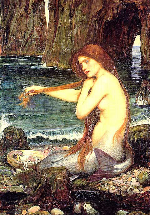 John William Waterhouse-A Mermaid